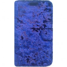 Capa Book Cover para Galaxy On7 2016 e J7 Prime - Veludo Azul